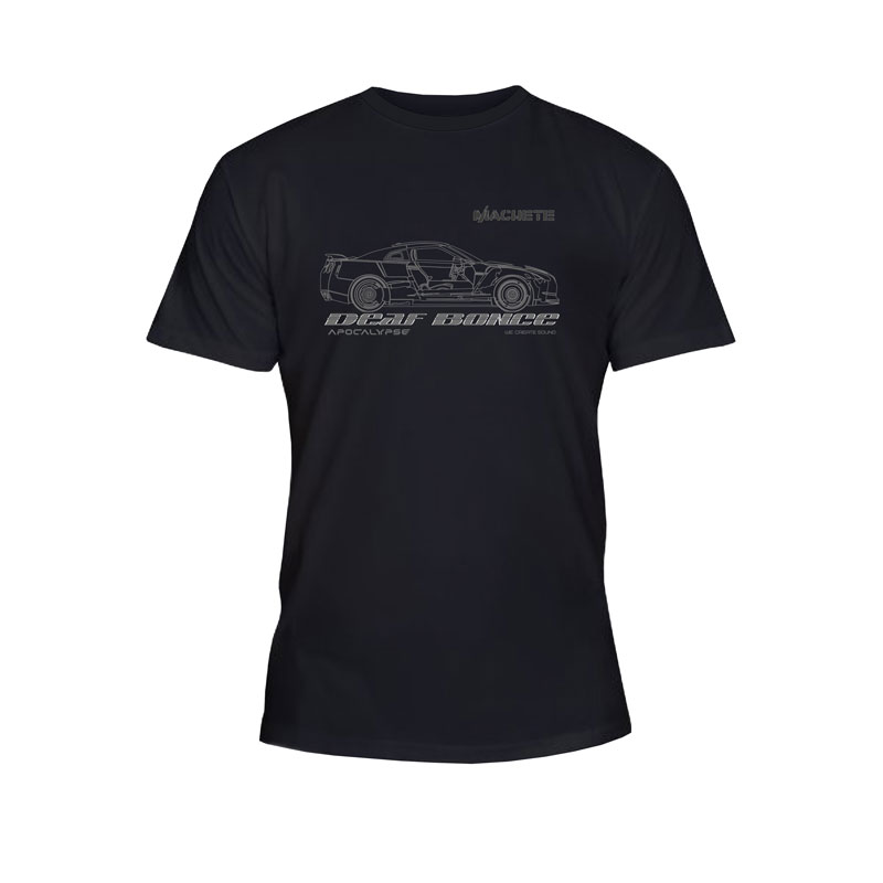 Deaf Bonce T-shirt Car Black